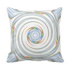 Diamond Rainbow Swirl Sofa Pillow Custom Design from Touch of the Wind by Janz