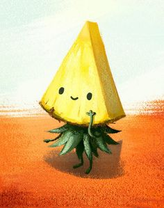 pineapple, art, and background image
