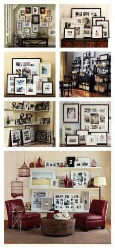 Different Ways to arrange photo frames
