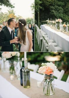 I'm pinning this because it's a real wedding that was a potluck wedding - which is an idea I already had. It's elegant and budget friendly. You can read about it here: http://www.snippetandink.com/pot-luck-wedding/