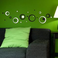 B Circles foam wallstickers