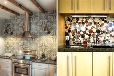 CREATIVE KITCHEN BACKSPLASH IDEAS Kitchen Backsplash, Kitchen Cabinets, Backsplash Ideas, Interior Design, Creative, Baby Room, Kitchen Ideas, Beautiful, Home Decor