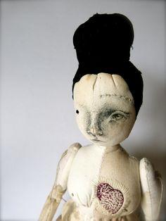 Nin, Large Calico Cloth Art Doll