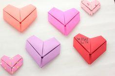 sandylandya@outlook.es Dobla tus CARTAS en forma de CORAZÓN! (detalle rápido) Origami Heart Card