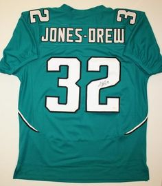 Maurice Jones-Drew Jacksonville Jaguars NFL Hand Signed Authentic Style  Teal Jersey. Available through 2c5b920c7