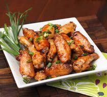 Spicy Cajun chicken wings