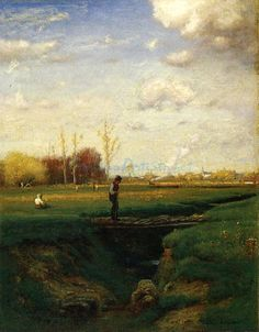 A Short Cut Watchung Station N.j. oil painting by Famous Artist - George Inness