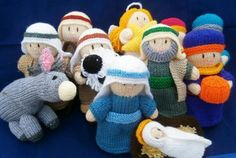 A simple knitted Nativity which uses small amounts of yarn for each figure, making this an ideal 'stash buster'. Tension is not vital for this project.