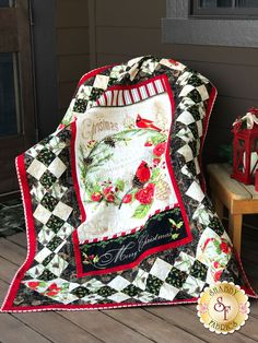 Christmas In The Wildwood - Wall Quilt Kit Medallion Quilt, Quilted Throw Blanket, Shabby Fabrics, Quilt Kits, Quilt Blocks, Panel Quilts, Quilted Wall Hangings, Quilt Patterns, Christmas Quilting