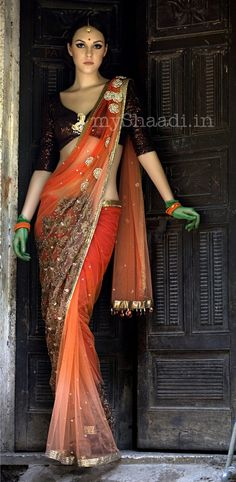 Saree by Niharika Pandey https://www.facebook.com/pages/Niharika-pandey-fashion-designer/130767756966083
