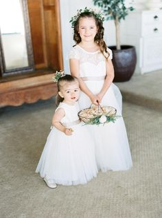 Flower girls are almost always the most adorable part of a wedding Designer Flower Girl Dresses, Wedding Styles, Wedding Ideas, Rustic Elegance, Almost Always, Wedding Gallery, Flower Girls, Siblings, Special Occasion Dresses