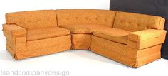 old school sectional. Could just sing with the right upholstery.