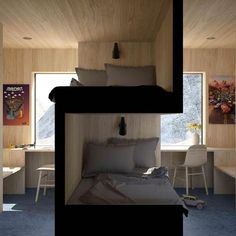 Sibling bedroom Your thoughts about this idea? Bunk Bed Designs, Small Bedroom Designs, Bedroom Small, Sibling Bedroom, Bunk Beds, Bedroom Decor, Bedroom Ideas, Bedroom Bed, Kids Bedroom