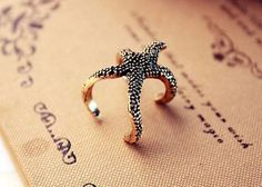 Gold-tone Vintage Stylish Nautical Starfish Statement Ring Cheap NEW! in Jewelry & Watches, Fashion Jewelry, Rings Jewelry Box, Jewelry Accessories, Fashion Accessories, Jewlery, Jewelry Rings, Jewelry Watches, Jewelry Design, Women Jewelry, Starfish Ring