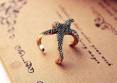 Goldtone Vintage Stylish Starfish Statement Ring by StyledbyShea, $3.50
