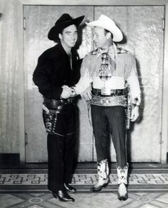 Lash LaRue and Roy Rogers