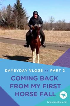 Falling is part of horse riding, but it's how we handle it that determines our future success. Laura from DaybyDay Vlogs shares her story about coming back from her first horse fall -- better than before!  #daybydayvlogs #horsefalls #equestrianadvice #equestrianfalls #horseconfidence #horseridingtips
