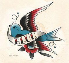 Angelique Houtkamp blue bird