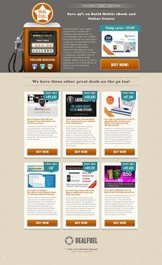 dealfuel.com: home page. Web Design