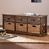 Found it at Wayfair - Bourke Wood Storage Bench