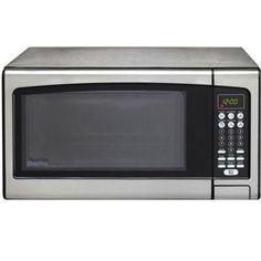 Danby Stainless Steel Countertop Microwave Oven (Danby 1.1 cu. ft. Countertop Microwave Oven SS), Silver (Metal)