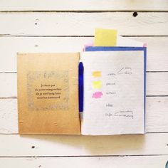 Notitieboek / notebook / notes / stationery