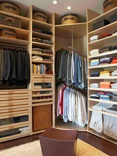 Even in our homes, corners are generally considered dead space, but in closets they can be utilized in a surprising way to free up