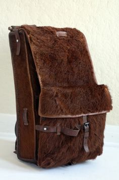 WW II Swiss Pony Fur Backpack by TopsyDesign on Etsy, $65.00