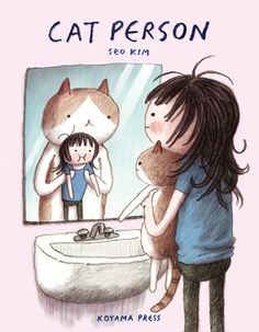 Buy Cat Person by Seo Kim at Mighty Ape NZ. Highly relatable and hilarious, Seo Kim's comics about life, love and the foibles of feline companionship will leave you reeling. Cat Person is a coll. Crazy Cat Lady, Crazy Cats, I Love Cats, Cute Cats, Funny Cats, Video Chat, Photo Chat, Cat People, All About Cats