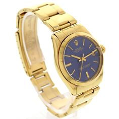 702612f6 Midsize Vintage Rolex Datejust 18K Yellow Gold 6824