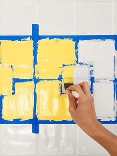 How to Paint Ceramic Tile - DIY Painting Bathroom Tile - Redbook ... http://www.bathroom-paint.net/painting-bathroom-tiles.php
