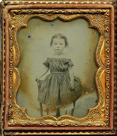 Girl Standing on Chair 6th plate ambrotype.  Purchased in Minocqua, Wisconsin