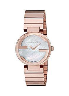 d29d4860459 Interlocking Quartz Metal and Gold-Tone-Stainless-Steel Women s Watch  (Model