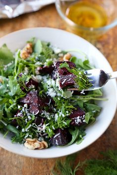 Beet Salad with Arugula, Dill, Parmesan and Walnuts. #healthy #salads ...