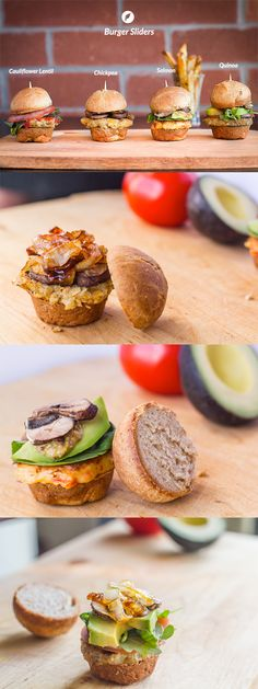What happens when you combine good friends and good food? Here are all the recipes you need to host a summer patio party with your good friends. Cauliflower Lentil Burger, Chickpea Burger, Salmon Burger  Quinoa Burger. Add Homemade French Fries and even learn how to do our Honey Whole Wheat Buns