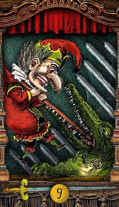 The Tarot of Mister Punch: Crocodiles In The Night - If you love Tarot, visit me at www.WhiteRabbitTarot.com