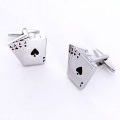 Ace Cufflinks for the groom, groomsmen and father of the bride at a Las Vegas Wedding