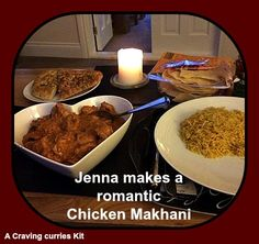 Jenna made Damien a romantic Chicken Makhani Chicken Makhani, Indian Curry, Curries, Cravings, Beef, Romantic, Dishes, Food, Design