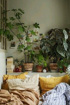 small apartment full of green plants and colors - PLANETE DECO has . - home accessories - -A small apartment full of green plants and colors - PLANETE DECO has . - home accessories - - Boho Chic Bedroom, Cozy Bedroom, Modern Bedroom, Bedroom Decor, Bedroom Ideas, Contemporary Bedroom, Master Bedroom, Bedroom Brown, Bedroom Colors