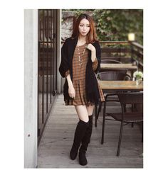 a great autumn dating outfit : ) l0nger dress