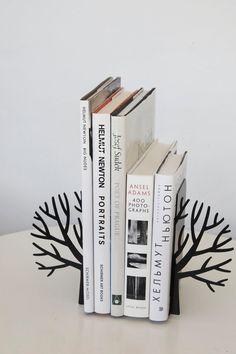 Minimalistic bookends  Winter trees  by DesignAtelierArticle, $44.00