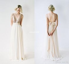 2017 New Arrival Long Bridesmaid Dresses Pleats Chiffon with Rose Gold Sequins V-Neck Sleeveless Floor Length Maid of Honor Party Gowns Bow Bridesmaid Dresses Cheap Evening Dresses Online with 98.0/Piece on Sweet-life's Store | DHgate.com