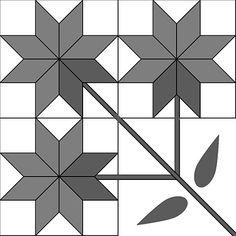 Carolina Lily / Peony Quilt Block