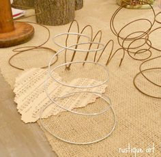 make your own bed springs - 16 gauge wire. I have a bed spring wreath pinned and. make your own bed springs - 16 gauge wire. I have a bed spring wreath pinned and could do this out of all the hangers I have from the dry cleaners. Bed Spring Crafts, Spring Projects, Crafts To Make, Fun Crafts, Arts And Crafts, Craft Tutorials, Craft Projects, Craft Ideas, Rusty Bed Springs