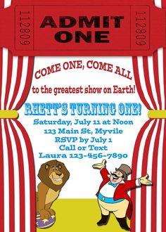 Birthday Invitation, Circus Theme