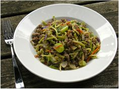 Beef Slaw with Creamy Sunbutter Sauce  a great way to eat broccoli