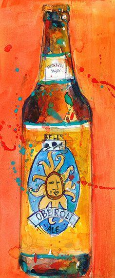 Oberon Beer Original Watercolor Print Size 8.5 x. by dfrdesign, $24.00