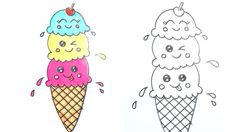ice cream step draw cone drawing easy drawings icecream nursery cool learn rhymes