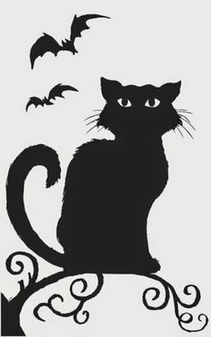 Halloween Window Silhouette Party Decorations Cats And Bats Please Choose Vegan Art Supplies