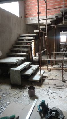 House Furniture Design, Home Stairs Design, Interior Stairs, Village House Design, Bungalow House Design, House Front Design, Terrace House Exterior, Stairs In Living Room, House Staircase